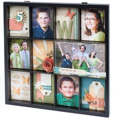 Use CTMH Display Tray to highlight family members or a specific holiday! Photo Frame Prop, Collage Picture Frames, Diy Home Decor Projects, Craft Projects, Memory Frame, Artist Project, Close To My Heart, Mini Books, Shadow Box