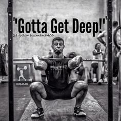 CrossFit: knowing that if every squat doesn't look like this, it's a No Rep!