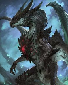 Beautiful pictures of dragons Dragon art and drawings Fantasy Monster, Monster Art, Creature Concept Art, Creature Design, Design Dragon, Witcher Wallpaper, Mythical Creatures Art, Cool Dragons, Dragon Artwork