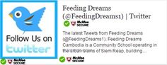 Stay connected with Feeding Dreams Cambodia on your favorite social media channel.  Yes! we're now on Twitter. Show your support and begin following us to stay updated with latest news from Feeding Dreams Cambodia. https://twitter.com/FeedingDreams1