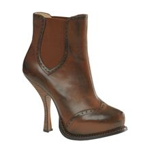 Max Studio: BURNISHED LEATHER BOOTIES