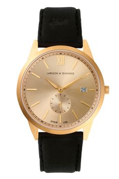 With a brushed gold-plated face and organic leather strap from Swedish tannery Tärnsjö, this is a black tie-ready watch for the man who doesn't want to mortgage their life to a credit card. NC £345. larssonandjennings.com