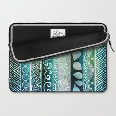 Dreamy Tribal Part VIII Laptop Sleeve by Pom Graphic Design | Society6