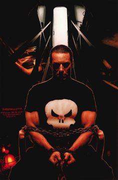 Punisher by Tim Bradstreet Superman Symbol, Superman Logo, Batman, Comic Book Heroes, Comic Books, Frank Castle Punisher, Marvel Comic Character, Comic Artist, Marvel Universe