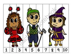 Halloween Number Puzzle from My Little Lighthouse on TeachersNotebook.com -  (4 pages)  - This Halloween themed puzzle is perfect for number practice. Have your students place the numbers in order to reveal the picture.