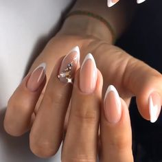 Ostty Trendy Nails Art - The best new nail polish colors and trends plus gel manicures, ombre nails, and nail art ideas to try. Get tips on how to give yourself a manicure. Classy Nail Designs, Fall Nail Art Designs, Green Nails, Pink Nails, French Nails, Cute Acrylic Nails, Cute Nails, Nagellack Trends, Trendy Nail Art