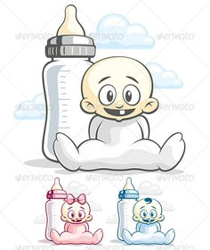 Babes and Feeding Bottle