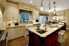 Image result for kitchen shelves across windows