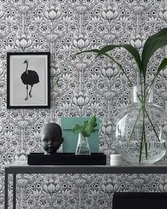 £40.61 Price per roll (per m2 £7.62), Romantic wallpaper, Carrier material: Non-woven wallpaper, Surface: Smooth, Look: Matt, Design: Stylised flowers, Basic colour: White, Pattern colour: Black, Characteristics: Good lightfastness, Low flammability, Strippable, Paste the wall, Wash-resistant