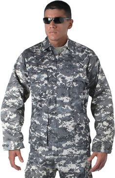 $29 | Subdued Urban Digital Camouflage Military BDU Fatigue Shirt | Army Universe