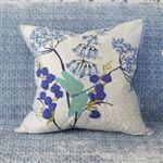 Kimono Blossom Delft Pillow - Designers Guild