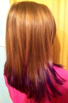vaeh with purple and pink dip dyed hair