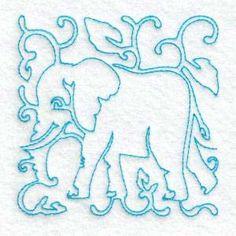 Free Embroidery Design: Elephant
