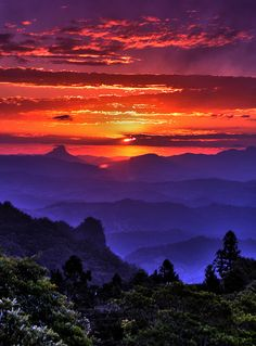 Incredible mountain sunset.