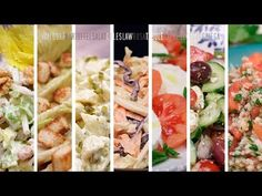 LAS 8 ENSALADAS MÁS FAMOSAS DEL MUNDO - YouTube Savory Salads, Healthy Salads, Summer Salad Recipes, Summer Salads, Diet Recipes, Cooking Recipes, Healthy Recipes, Food From Different Countries, Tasty Dishes