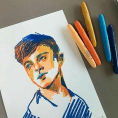 47 Closeup Doodles With Crayon Ideas - Art Art Sketches, Art Drawings, Illustrations, Illustration Art, Oil Pastel Art, Poses References, Arte Sketchbook, Sketchbook Inspiration, Pretty Art