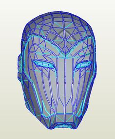 Superior Iron Man - Helmet Pepakura File on Onekura. Make your own costumes and accessories.