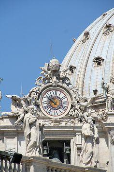 St Peter's Clock, Vatican City, Italy                                                                                                                                                                                 More