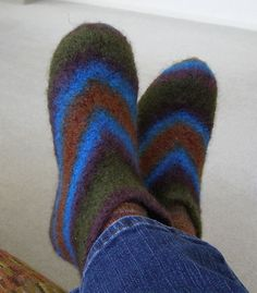 Ravelry: Marsh Felted Slippers pattern by Claudia Olson