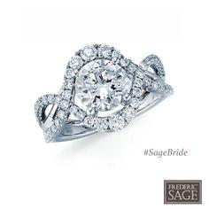 Frederic Sage White Gold Bridal ring style RM126-W #SageBride #FredericSage