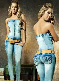Painted on clothes. The belt is real Denim Fashion, Fashion Pants, Girl Fashion, Fashion Outfits, Womens Fashion, Sexy Outfits, Casual Outfits, Cute Outfits, Urban Chic