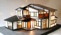 Stained Glass Miniature Houses | Stained Glass Miniature House