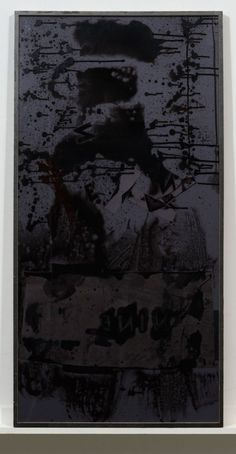 Dashiell Manley <i>Countdown (left to right diagonal brushstroke) #9</i>, back<br>Gouache, ink, watercolor, canvas, wood, glass, transparency film, vinyl<br>46 x 24 inches (double-sided)<br>2012