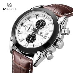 megir fashion leather sports quartz watch for man military chronograph wrist watches men army style 2020 free shipping Just look, that`s outstanding!  #shop #beauty #Woman's fashion #Products #Watch