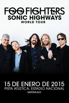 FOO FIGHTERS 15 DE ENERO PISTA ATLETICA DEL NACIONAL.