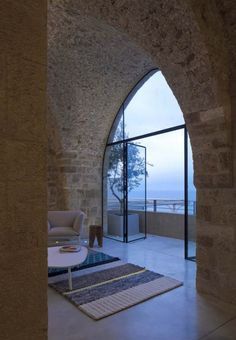 jaffa apartment stone restoration pitsou kedem architect 8 Stone, Vaulted Ceilings and Genuine Atmosphere in an Inspiring Tel Aviv Home