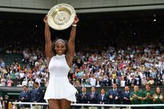 http://www.wimbledon.com/en_GB/interactive/galleries/2016-07-10/the_champions_2016.html Serena Williams holds up the Venus Rosewater Dish.