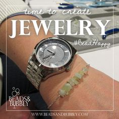 Time to create jewelry. #BeadHappy | Beads & Bubbly host private social jewelry making events. Attendees create their own piece of jewelry designed by local artisans.  jewelry, quotes, motivational, inspirational, love, happy, wedding, marriage, women