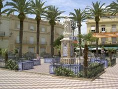 A plaza in Ayamonte, Spain