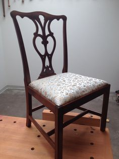 Chippendale Chair In The Style Of Eighteenth Century Portsmouth NH Maker  Robert Harrold. Air Dried