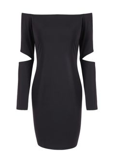 Trendy Off The Shoulder Long Sleeve Bodycon Dress