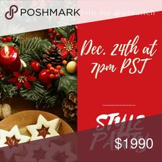 Hosting my 3rd Party!! Can't wait to party on Christmas Eve with you all!! Co-hosting the style party on December 24th @ 7pm PST! Co-hosts and theme TBA Style Party Bags Shoulder Bags