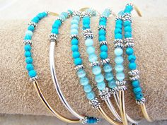Bangle Wrap Bracelet, Memory Wire Bracelet Cuff Bohemian Style