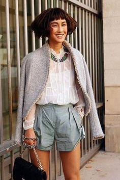 Street Style: Short Shorts. Photo by Anthea Simms