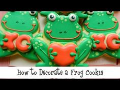 A step-by-step look at how to decorate a Frog Cookie! Use the graphics in the video to learn when to dry each phase and the tips that are suggested!