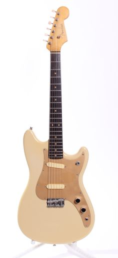 1963 Fender Duo-Sonic / Musicmaster 3/4 desert tan via Yeahman's Vintage And Used Guitars. Click on the image to see more!