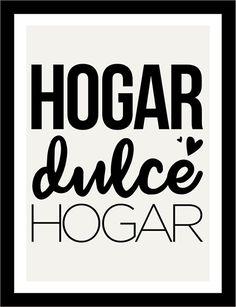 Póster adhesivo hogar dulce hogar Motivational Phrases, Inspirational Quotes, Decor Crafts, Diy Home Decor, Sweet Home, Decoupage Vintage, Repurposed Items, Mr Wonderful, Spanish Quotes