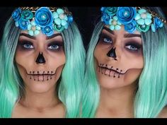 ROSTRO CALAVERICO HALLOWEEN MAKEUP - YouTube