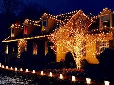Residential Outdoor Christmas Light Display | Holiday Lighting