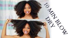10 MINUTE BLOW DRY | Natural Hair Hack That Everyone Should Know! [Video] - http://community.blackhairinformation.com/video-gallery/natural-hair-videos/10-minute-blow-dry-natural-hair-hack-everyone-know-video/