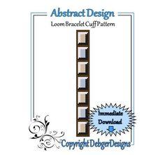 Abstract Design  Loom Bracelet Cuff Pattern por LoomTomb en Etsy, $4.50