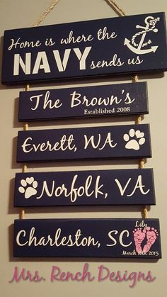 - Home is where the Navy sends Us by MrsRenchDesigns on Etsy