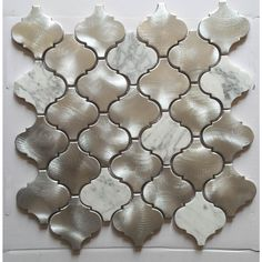 11.81 in. x 13.39 in. Multi-Surface Backsplash in Silver/White(13.2 sq. ft. / case)-AAS-LLB2301 - The Home Depot