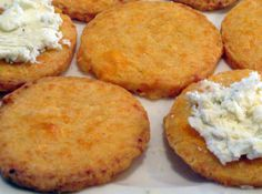 Home made cheese crackers.  So good.