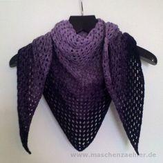 Half-Granny-Tuch aus Farbverlaufswolle