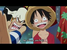 Luffy looks cute when he blushes.